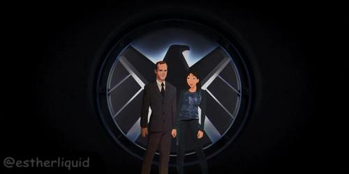 Phil Coulson & Melinda May wallpaper entitled Philinda - Disney Style FanArt