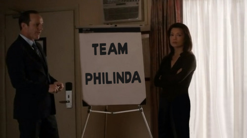 Phil Coulson & Melinda May wallpaper probably containing a packing box and a warehouse called Philinda - TeamPhilinda