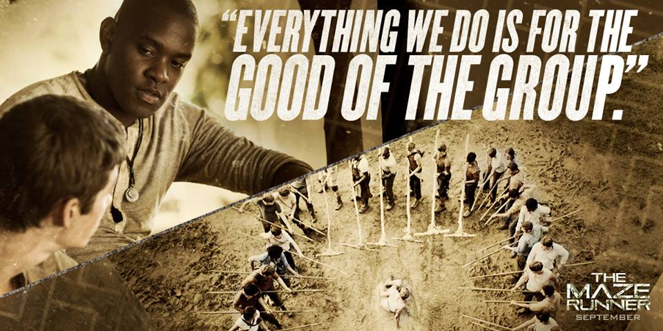 The Maze Runner Film Images Pic Of Alby Talking To Thomas