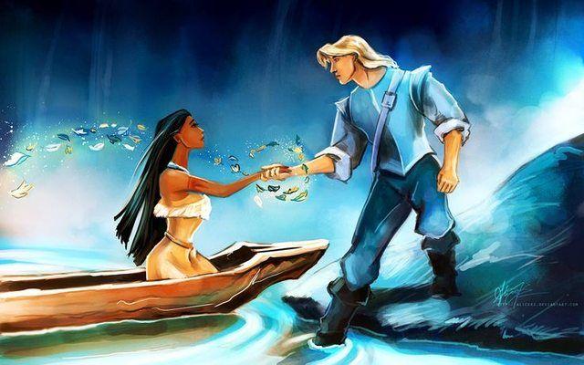 Pocahontas And Captain John Smith