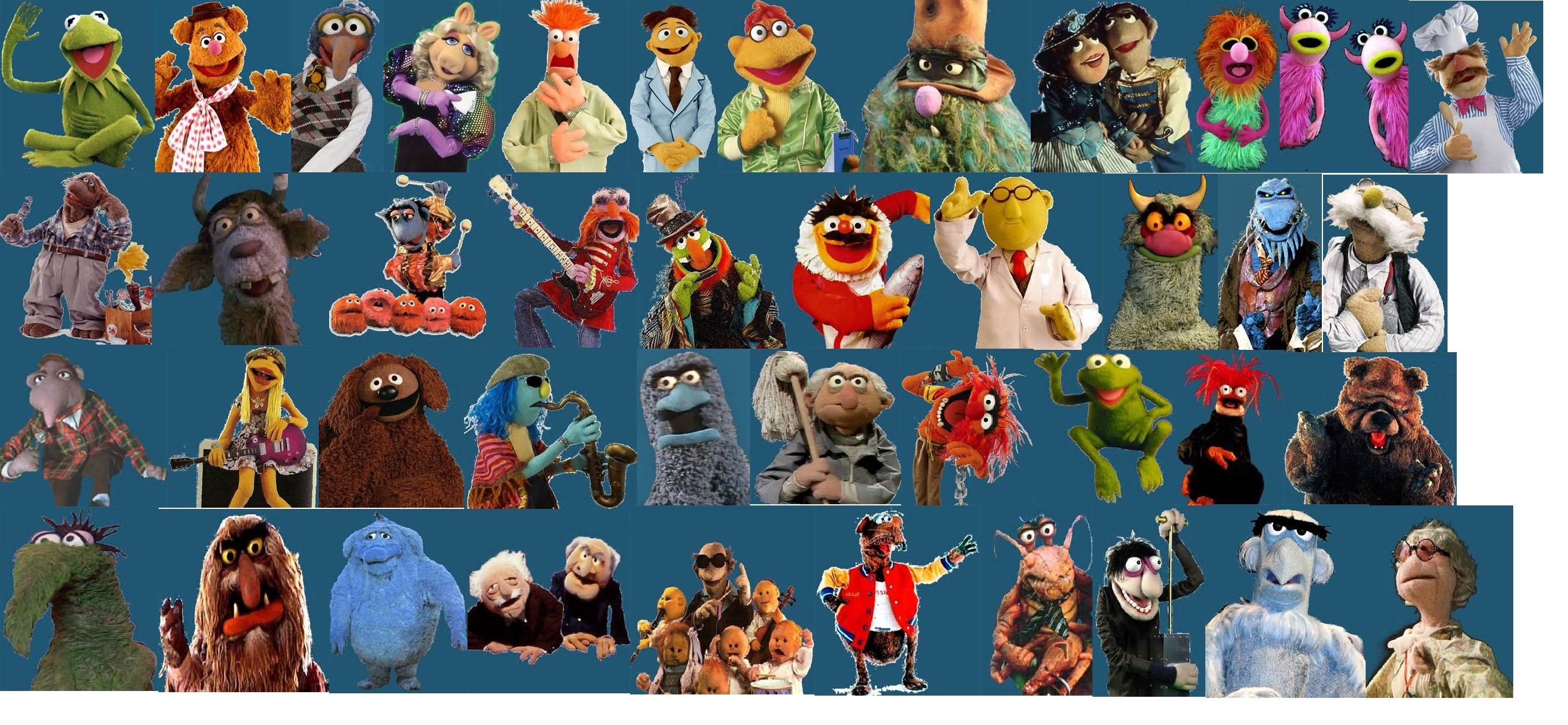 Possible Cast for the tiếp theo Muppet Movie