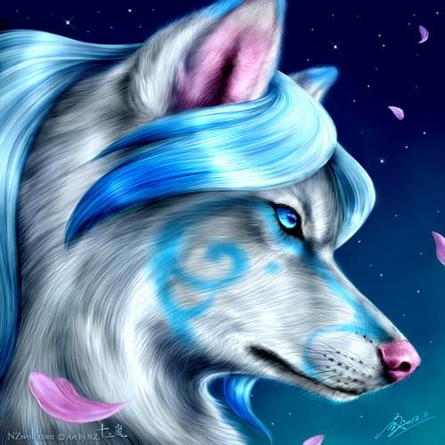 Wolves wallpaper entitled Pretty aqua wolf