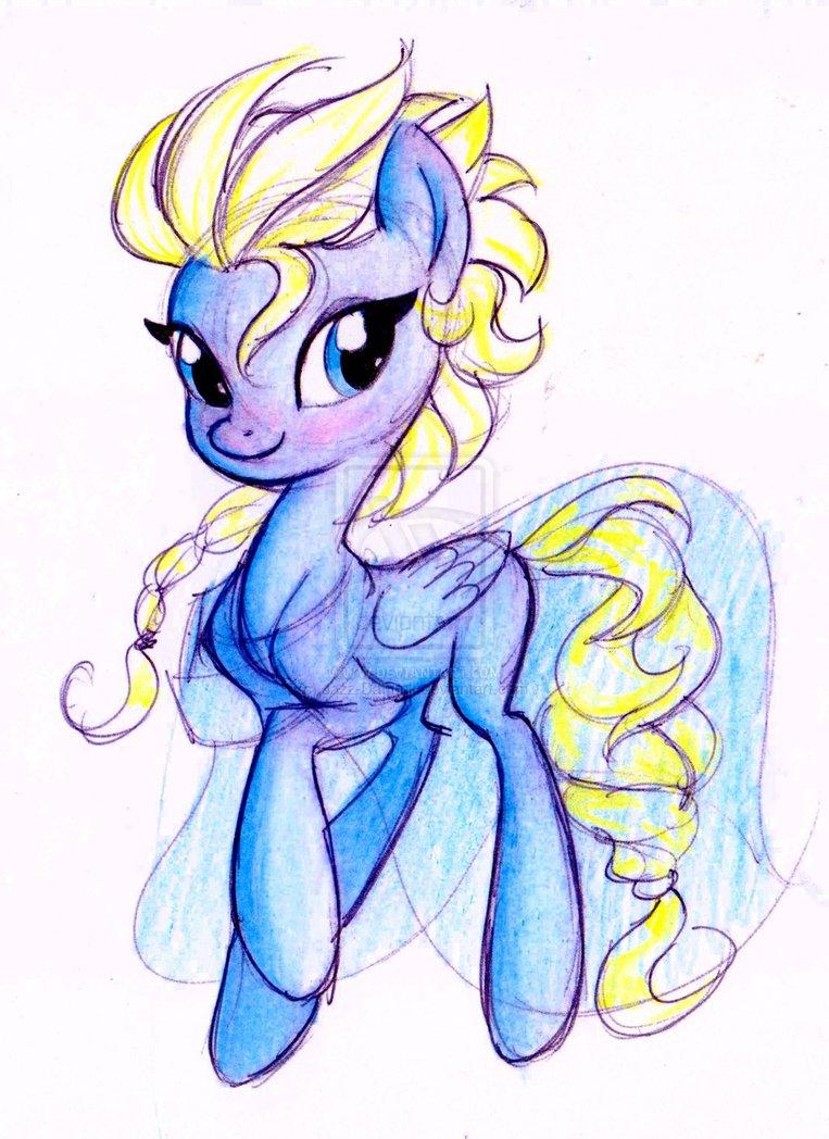Queen Elsa pony