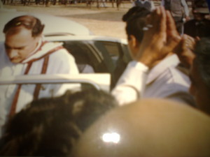Rajiv Gandhi at Mohammad Usman s election campaign