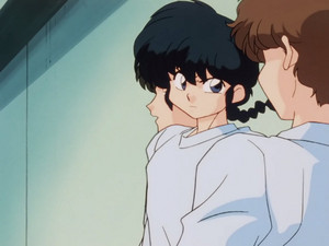 Ranma getting pissed, demands Gosunkugi stop taking pictures of Akane