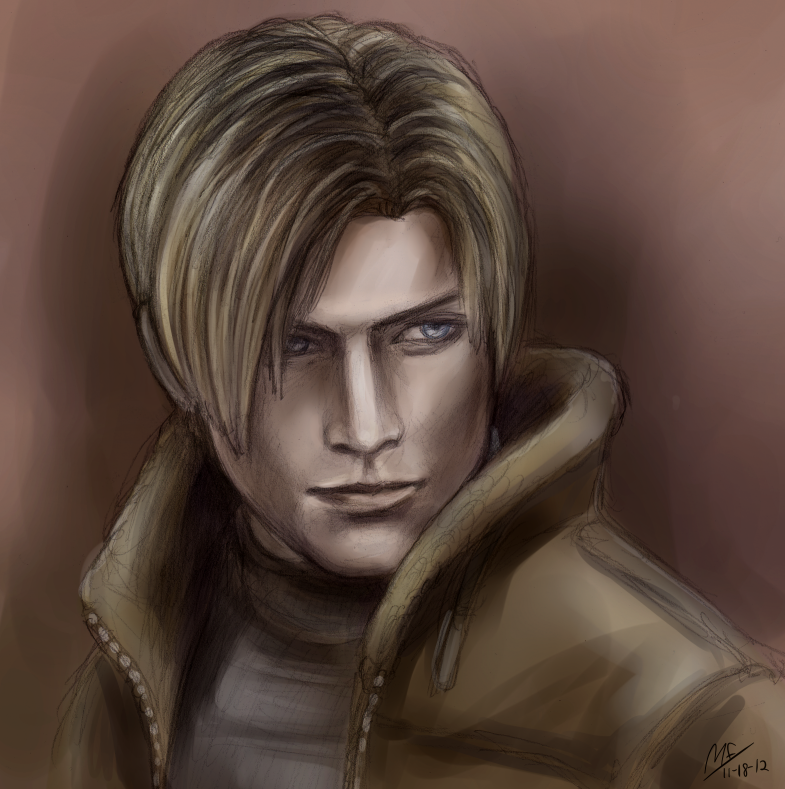 Resident Evil 4 Leon Kennedy Fan Art 37014406 Fanpop