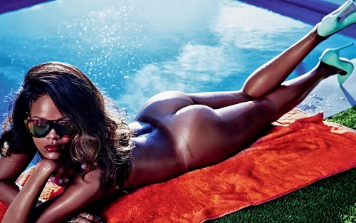 Rihanna wallpaper containing skin titled Rihanna LUI magazine 2014