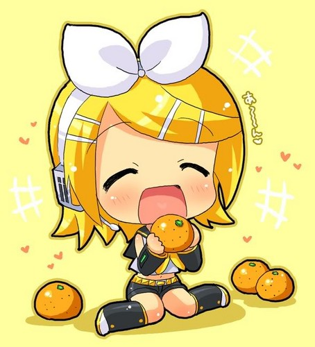 Vocaloids wallpaper containing anime entitled Rin Kagamine Chibi