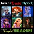 Rise of the Brave Frozen Tangled dragoni