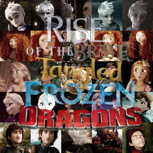 Rise of the 겨울왕국 메리다와 마법의 숲 라푼젤 용 바탕화면 entitled Rise of the 메리다와 마법의 숲 라푼젤 겨울왕국 용