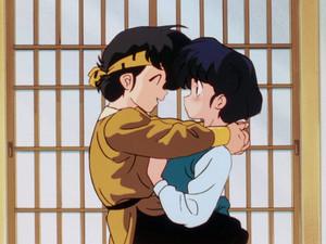 Ryoga hugs Akane