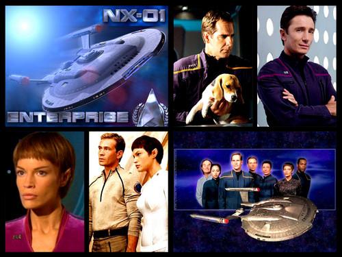 étoile, étoile, star Trek - Enterprise fond d'écran probably with a sign called STEnterprise collage