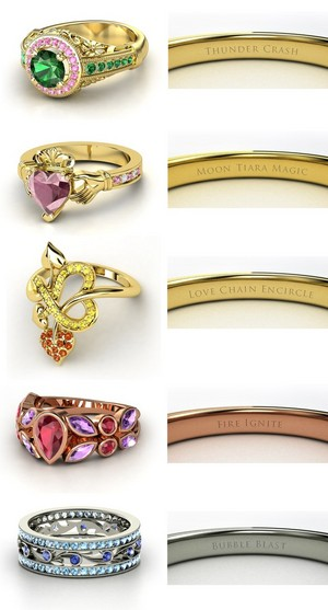 Sailor Moon engagement rings!