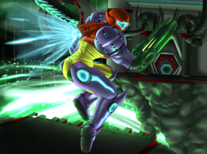 Samus in Sanctuary Fortress