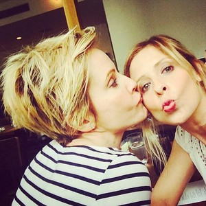 Sarah Michelle Gellar and Emma Caulfield (2014)