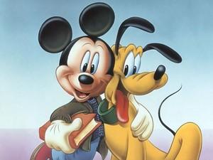 Walt ডিজনি প্রতিমূর্তি - Mickey & Pluto