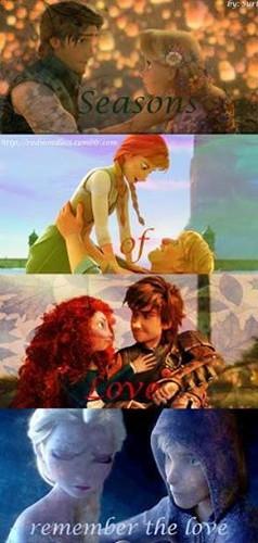 Rise of the 겨울왕국 메리다와 마법의 숲 라푼젤 용 바탕화면 entitled Seasons of Love. Remember the 사랑