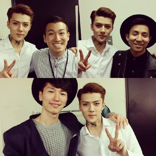 Se Hun kertas dinding possibly with a well dressed person titled Sehun Instagram