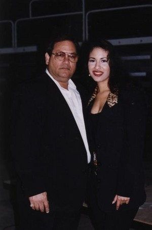 Selena with her father Abraham