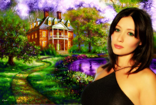 Shannen Doherty Hintergrund probably containing a portrait entitled Shannen Doherty