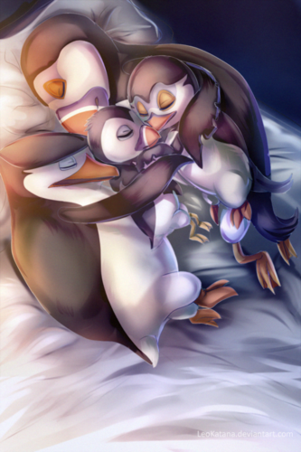 Skipper: The penguins of madagascar wallpaper entitled Sleeping Family