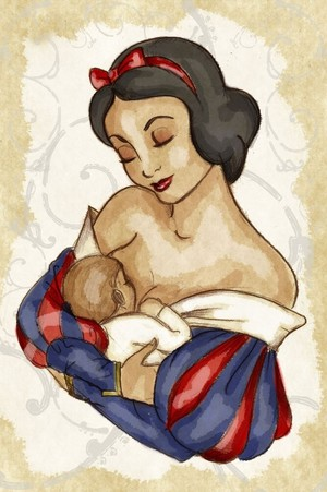 "Snow White as a mother. Note: this is the only ""Snow White as a mom"" fan art picture I could find."