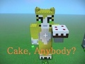 Stampy and a cake