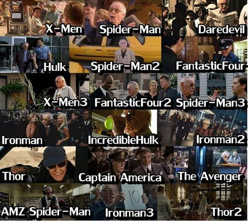 filmes wallpaper entitled Stan Lee as Cameos in Marvel filmes