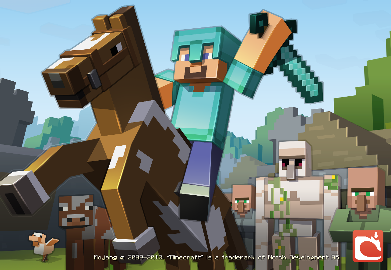 Simple Wallpaper Minecraft Poster - Steve-minecraft-game-37036620-1284-886  Graphic_527293.png