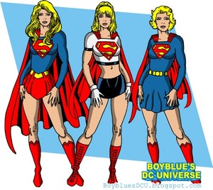 Supergirl from 3 different eras