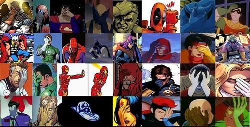 X-Men wallpaper containing anime entitled Superhero Ultimate Facepalm