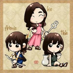 Taeyeon as Artemis, Tiffany as Iris, Sunny as Hebe fanart