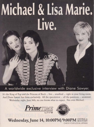 텔레비전 Promo Ad In Support Of 1995 Interview With Journalist, Diane Sawyer