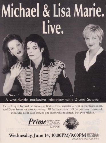 televisie Promo Ad In Support Of 1995 Interview With Journalist, Diane Sawyer