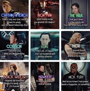 The Avengers 名言・格言