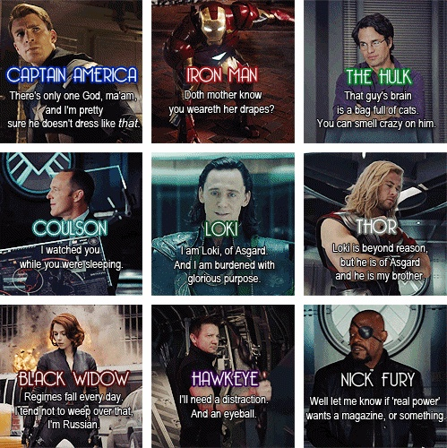 IamKyon Wallpaper Entitled The Avengers Quotes