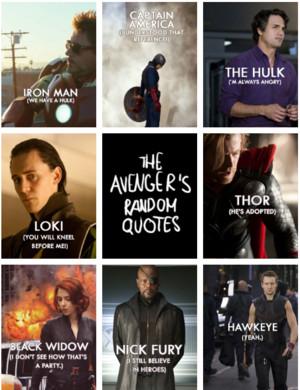 The Avengers ランダム 名言・格言