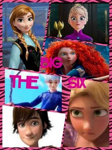 Rise of the 겨울왕국 메리다와 마법의 숲 라푼젤 용 바탕화면 titled The Big Six
