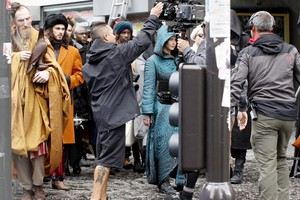 The Hunger Games: Mockingjay - Jennifer Lawrence on Set in Paris