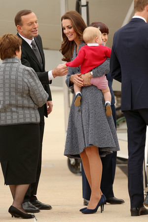The Royal Couple Attends Dawn Services