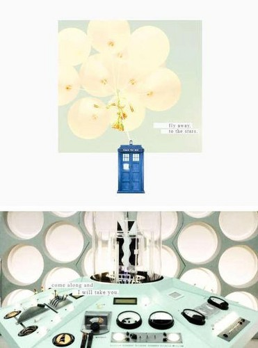 The Tardis kertas dinding probably containing a turntable, piring entitled The TARDIS