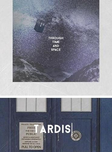 The Tardis kertas dinding containing a sign entitled The TARDIS