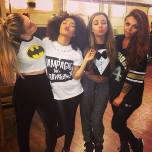The girls at rehearsals today
