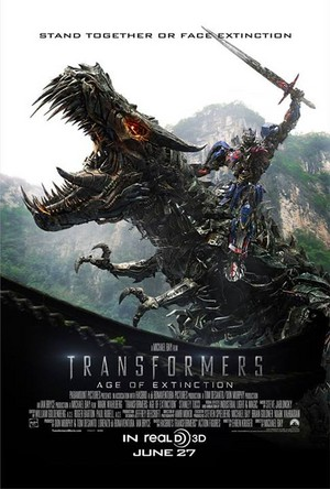 Transformers: Age of Extinction - Optimus Prime and Grimlock Poster