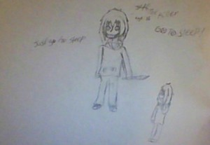Uncolored Jeff the killer