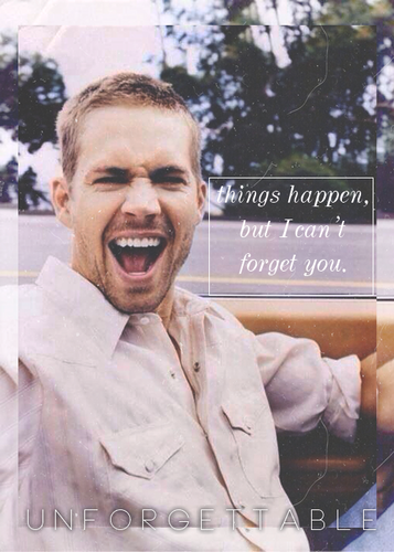 Paul Walker wallpaper possibly containing a business suit and a portrait titled Unforgattable