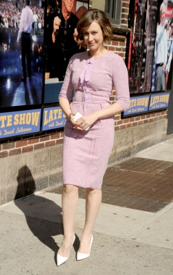 Vera Arriving At Late onyesha With David Letterman