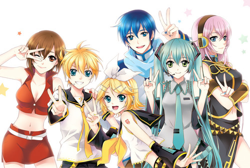 Vocaloids wallpaper possibly with anime entitled Vocaloid fan art