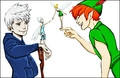 Walt Disney shabiki Art - Jack Frost, Periwinkle, Tinker kengele & Peter Pan