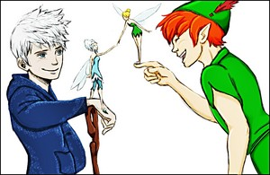 Walt ディズニー ファン Art - Jack Frost, Periwinkle, Tinker ベル & Peter Pan